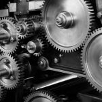picture of gears representing how things need to mesh in technology content marketing.