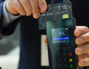 image of credit card and phone illustrating ecommerce