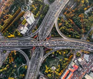 highway interchange image represents work of IT system integrators