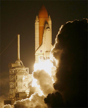picture of shuttle launch representing advantage of IT solution providers