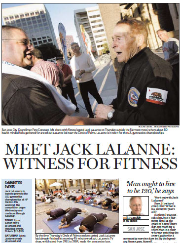 Jack Lalane centerpiece