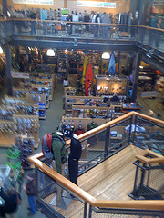 Inside of a sporting goods store