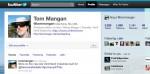 Tom Mangan's twitter page
